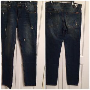 Joe's Jeans Straight Narrow Brixton Jeans Sz 18
